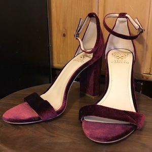 Velvet Red Vince Camuto Heels